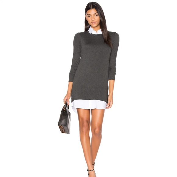 Bailey 44 Dresses & Skirts - Bailey 44 sweater dress w/removable white collar